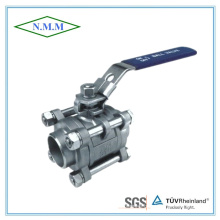 Stainless Steel Full Bore Butt Weld 1000wog 3PC Ball Valve